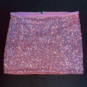 Forever 21 Pink Sequin Skirt